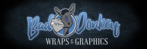 Bad Donkey Wraps & Graphics Custom Logo logo design for your signage