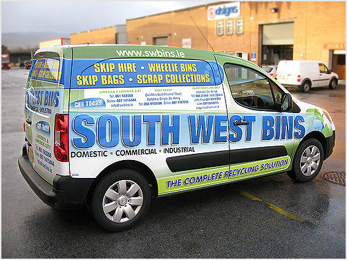 South West Bins Car Wraps – Graphic Design Services in
