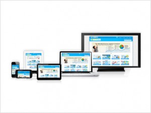 web design customized for smartphones, tablets, laptops, TVs